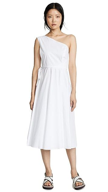 Rosetta Getty 单肩交叉缠绕连衣裙