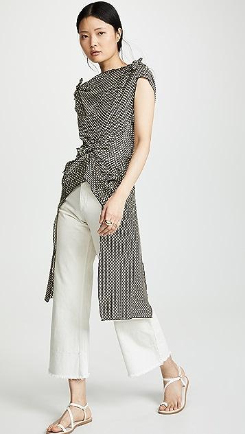 Rosetta Getty 结饰开衩上衣