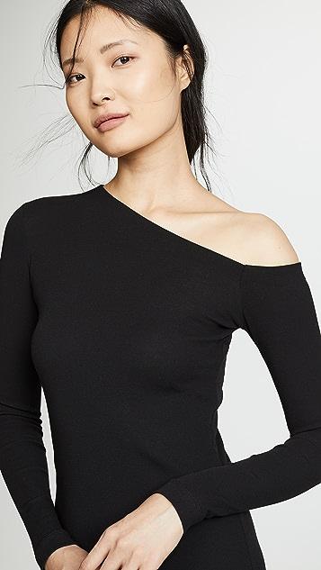 Rosetta Getty 单肩喇叭连衣裙