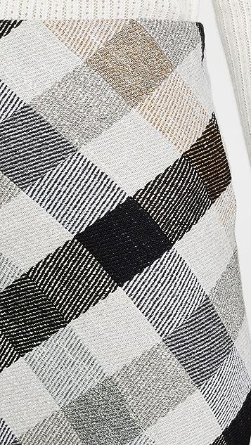 Rosetta Getty 斜纹半身裙