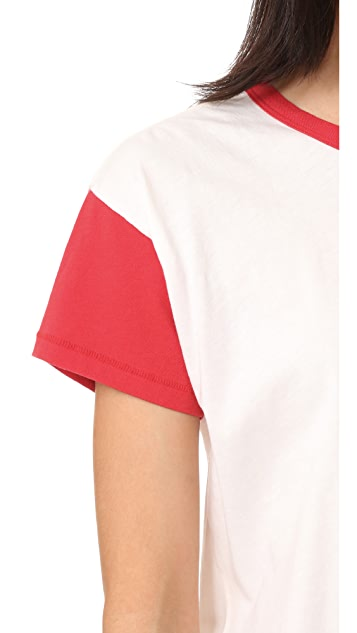 Rag & Bone/JEAN 拼色圆领 T 恤