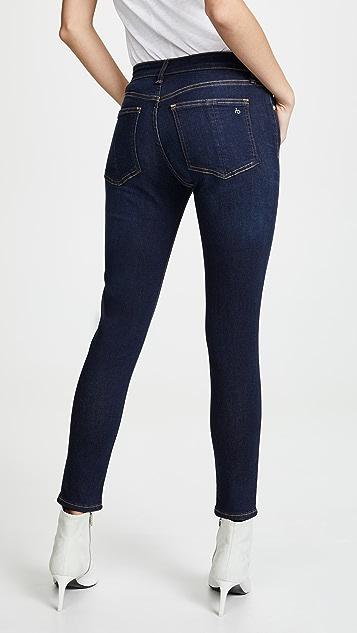 Rag & Bone/JEAN 紧身及踝牛仔裤