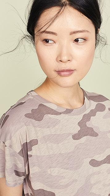 Rag & Bone/JEAN 迷彩圆领 T 恤