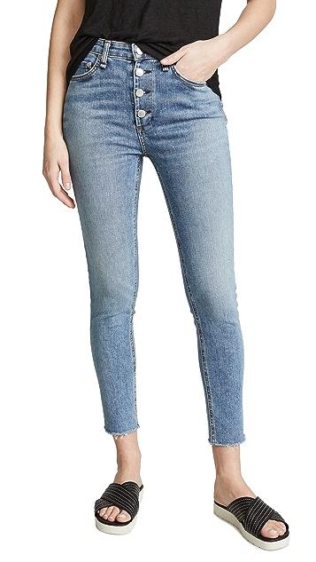 Rag & Bone/JEAN Rosie 紧身及踝牛仔裤