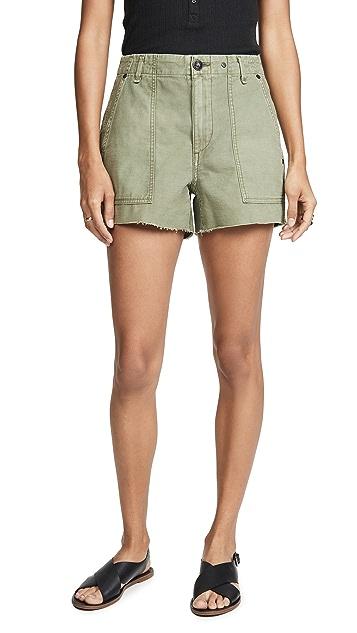 Rag & Bone/JEAN 超高腰军旅风格短裤