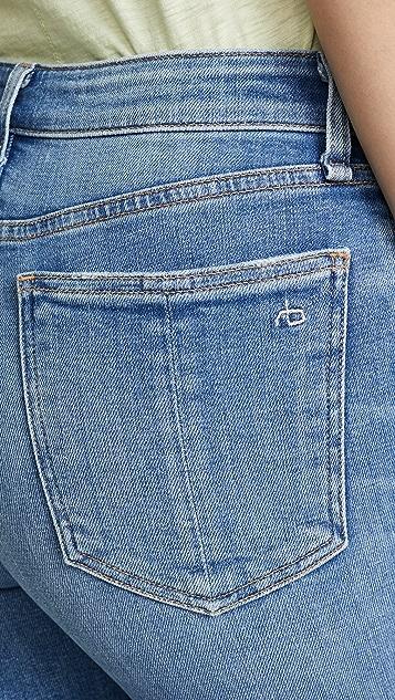 Rag & Bone/JEAN Nina 高腰及踝喇叭牛仔裤