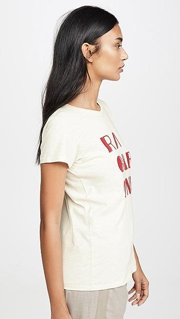 Rag & Bone/JEAN 毛毡徽标 T 恤