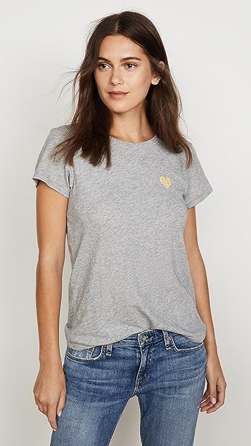 Rag & Bone/JEAN 心形图案 T 恤