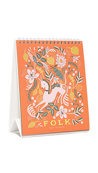 Rifle Paper Co Folk 2017 台历