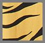 70 年代风格老虎/芥末黄黑色