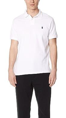 폴로 랄프로렌 반팔 카라티 (슬림핏) 화이트 Polo Ralph Lauren Custom Slim Fit Polo Shirt