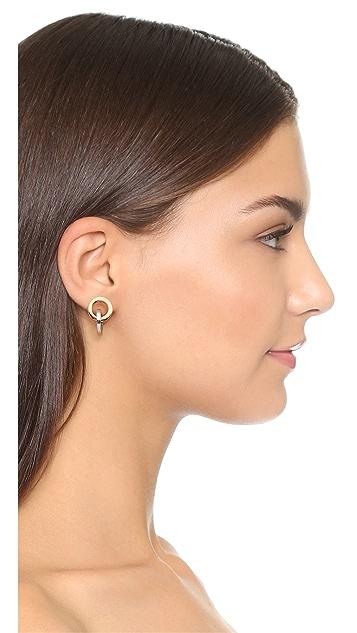 Rebecca Minkoff 双色链式耳环