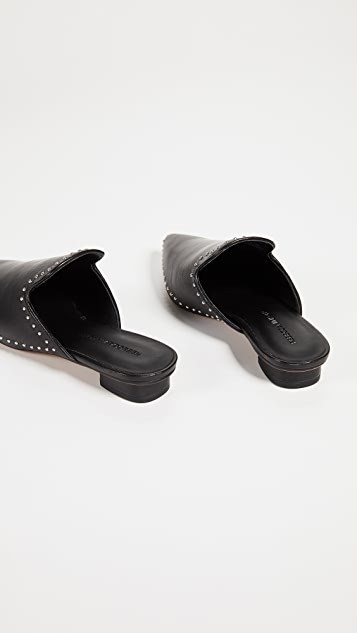 Rebecca Minkoff Chamille 铆钉装饰平底穆勒鞋