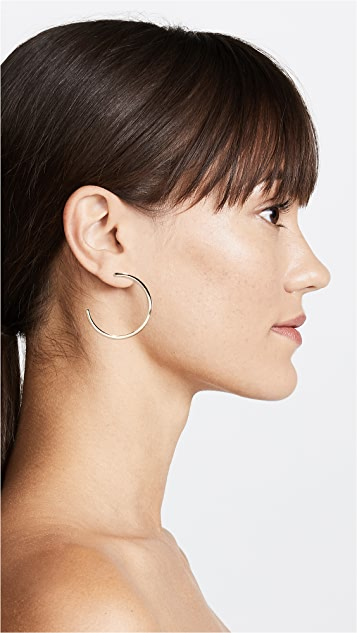 Rebecca Minkoff 密镶球形圈式耳环
