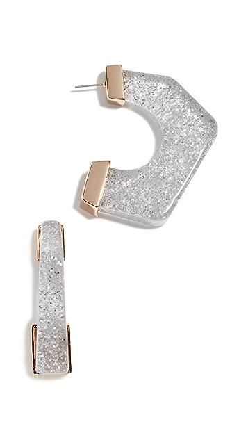 Rebecca Minkoff 亮片树脂圈式耳环