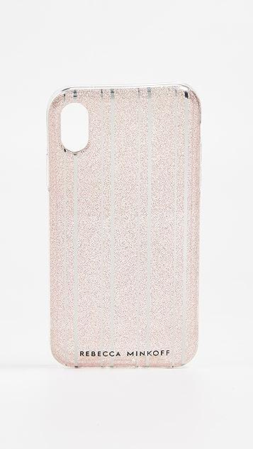 Rebecca Minkoff 金属色条纹 iPhone XR 手机壳