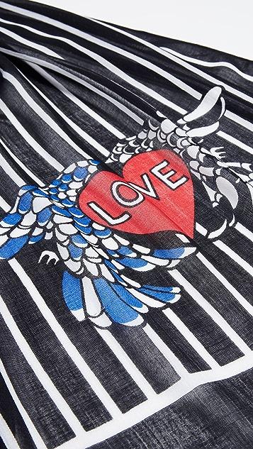 Rebecca Minkoff Love Birds 方形围巾