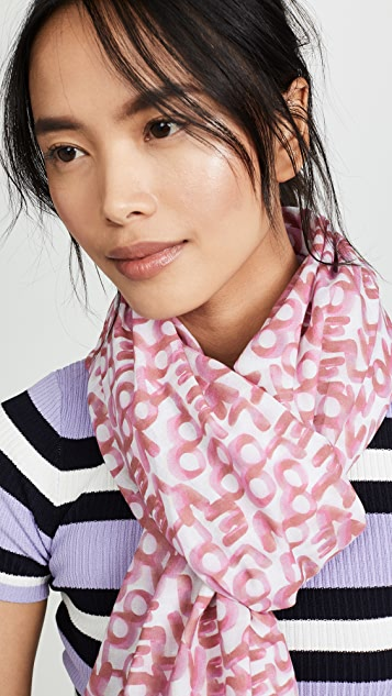 Rebecca Minkoff Love Stamp 方形围巾