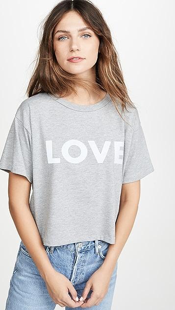 Rebecca Minkoff Reflective Love Wesley 短款 T 恤