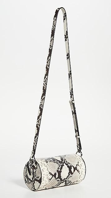 Rebecca Minkoff 蟒蛇纹圆筒形斜背包