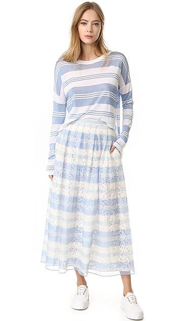 Rochas 条纹半身裙