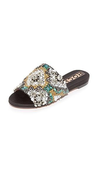 Rochas 水晶无跟便鞋