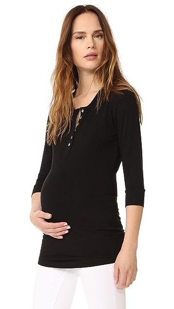 Rosie Pope Rosie 孕妇装亨利衫 T 恤