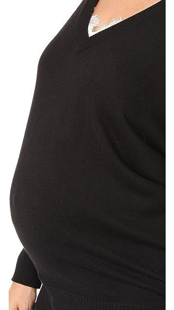 Rosie Pope V 领孕妇装针织衫