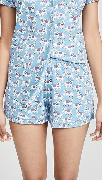 Roller Rabbit Tagada 马球衫睡衣套装