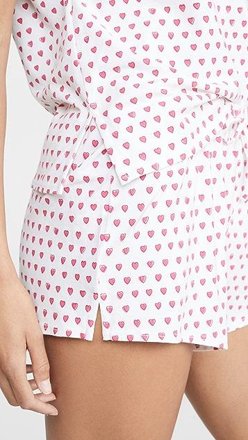 Roller Rabbit Hearts Chill 睡衣套装