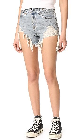 R13 破洞休闲短裤