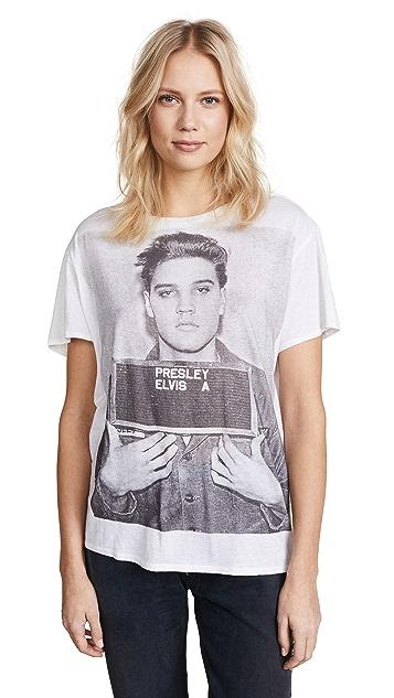 R13 Elvis Mugshot 男孩风 T 恤