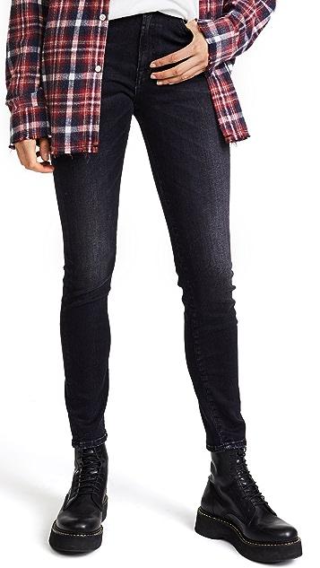 R13 高腰紧身牛仔裤
