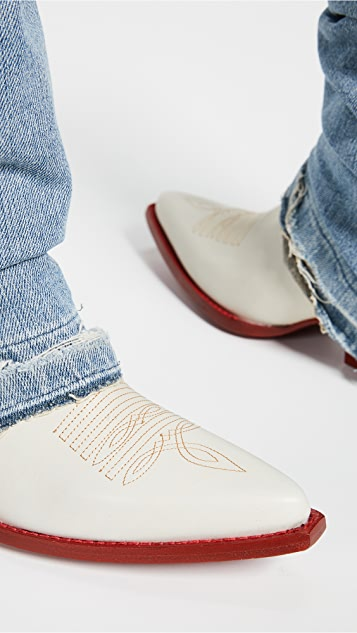 R13 牛仔布靴筒牛仔靴