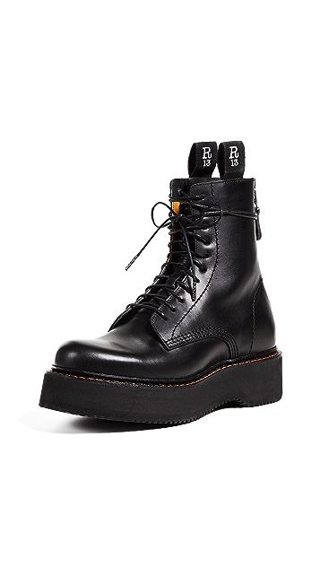 R13 厚底军靴