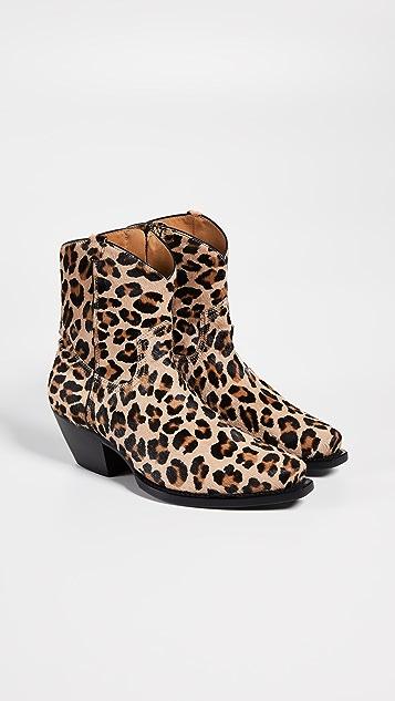 R13 牛仔踝靴