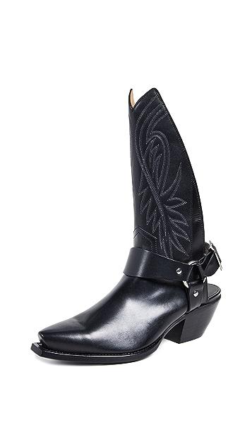 R13 牛仔高筒靴/饰带