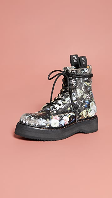 R13 单叠跟系带靴子