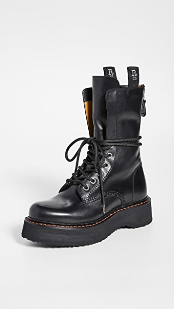 R13 单叠层超高筒靴子
