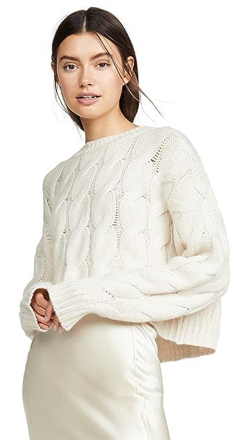 Sablyn Mariam 绞花针织开司米羊绒毛衣
