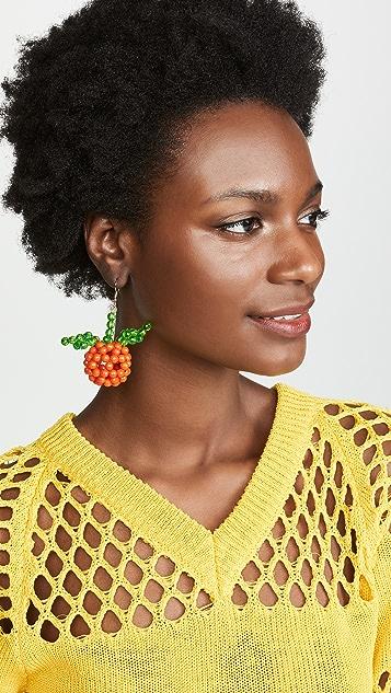 Susan Alexandra 小柑橘橙耳环