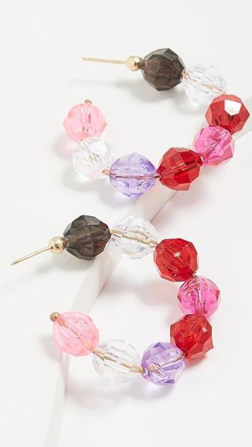 Susan Alexandra 圆片圈式耳环