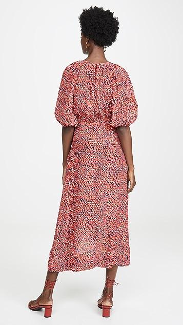 Saloni Olivia 垂褶设计连衣裙