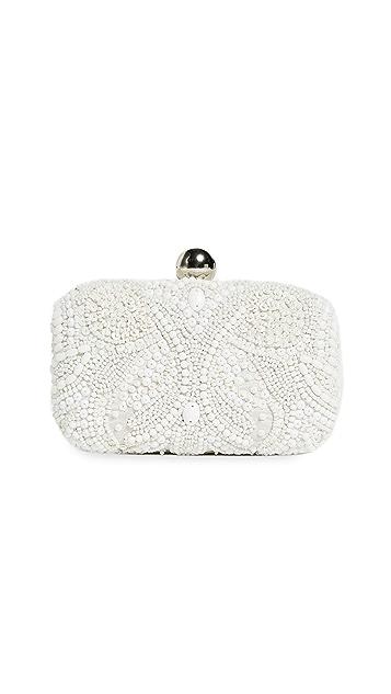 Santi 刺绣珠饰方形手包