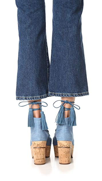 Schutz Minilia 厚底凉鞋