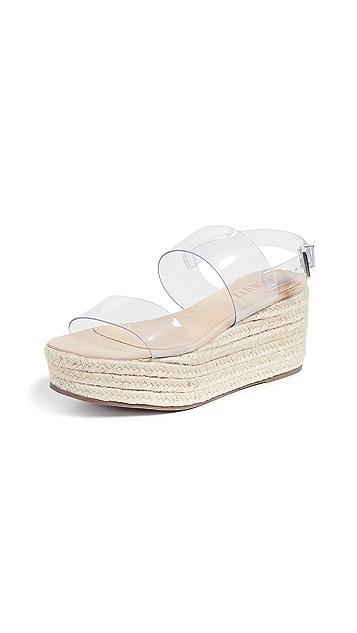 Schutz Paolete 双固定编织底坡跟凉鞋