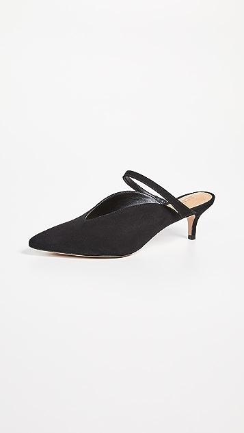 Schutz Peonia 方锥矮跟穆勒鞋