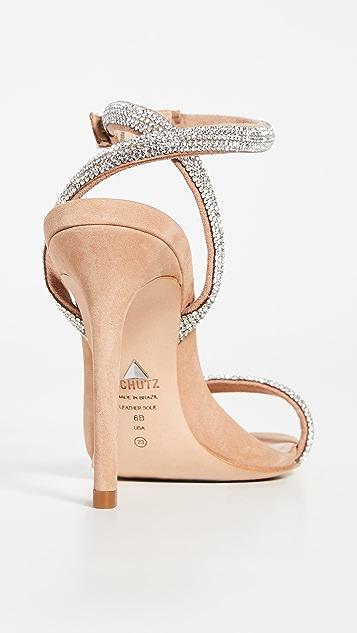 Schutz Mulan 系带凉鞋