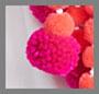 白色/荧光珊瑚色和粉色