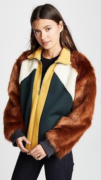 Sea 羊毛传统拼接夹克